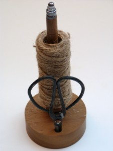 Wood Reincarnation Up cycled old mill pirn garden twine dispenser