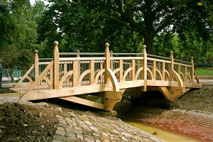 Handspring  bridge in park copy